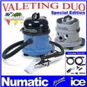 Numatic Car Valeting Duo CT370-2 & NVH 200 Carpet & Upholstery Vacuum Cleaning Shampooing Machine Equipment Package CT370 CT 370 NVH200
